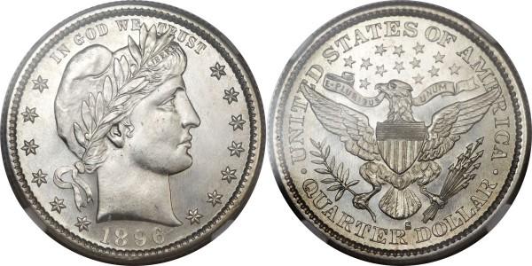 1896-S 25C MS66 NGC