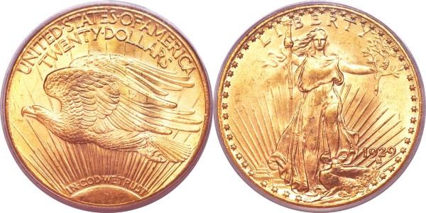 1929 $20 MS64 PCGS