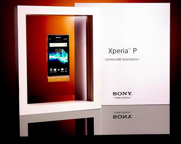 24K Gold Sony XPERIA P &#8211; Limited Edition