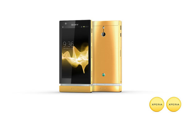 Sony Mobiles seem to going the shimmering Apple lane, or the walking the Vertu path, as it unveils its first attempt at a Gold-handset, limited edition gold Xperia P