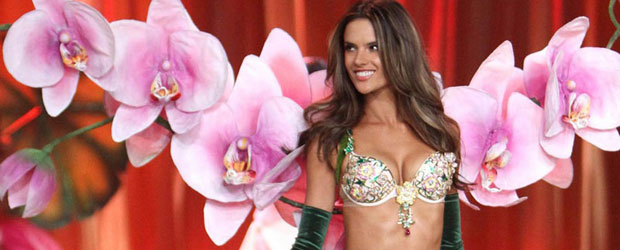 Alessandra Ambrosio Paraded in $2.5 million Fantasy Bra at Victoria's Secret Fashion Show 2012