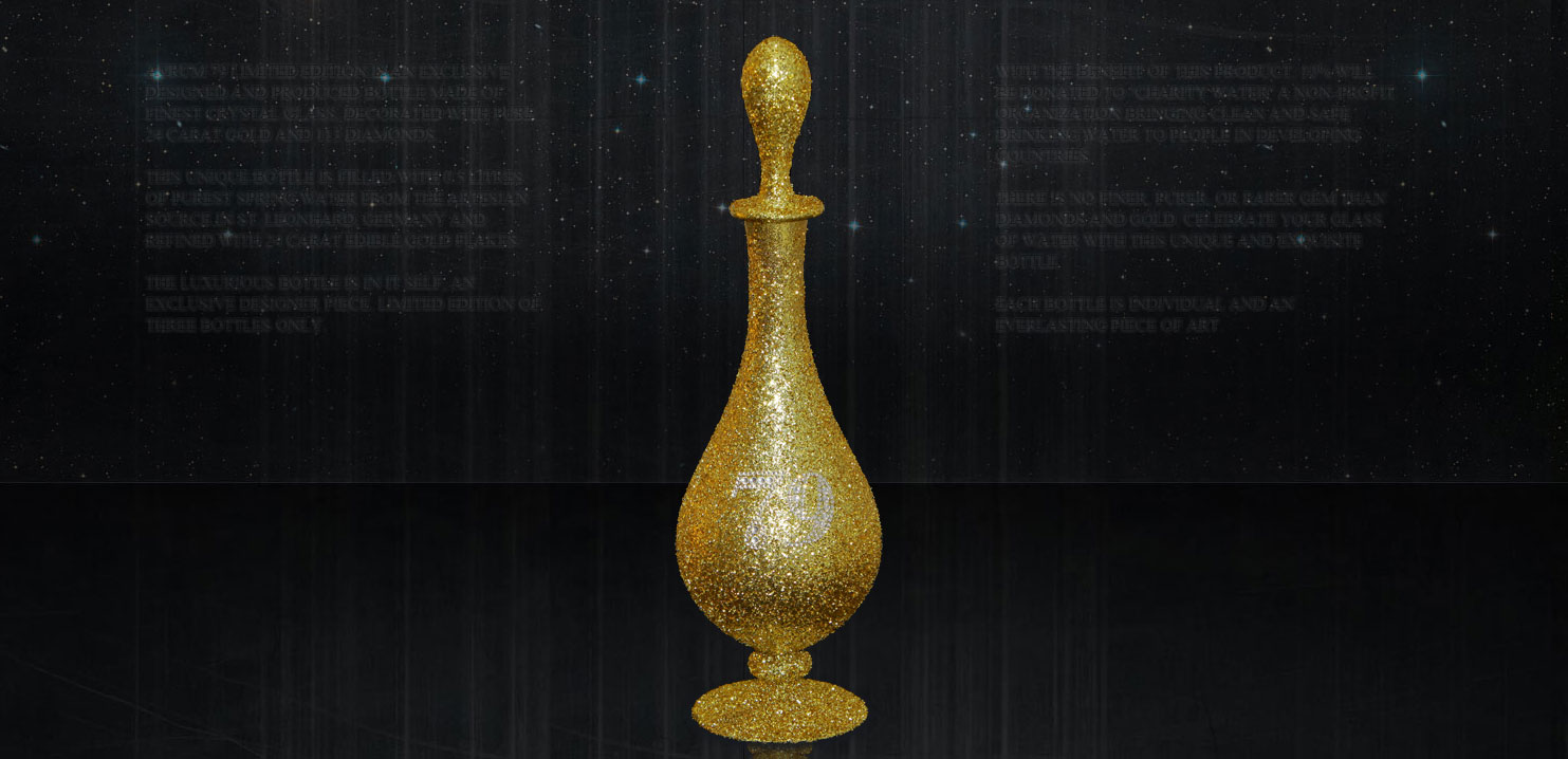 World's Most Expensive Water Bottle – $900,000 Aurum 79