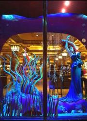 Disney Princess Dresses Adorns Harrods' Christmas Windows