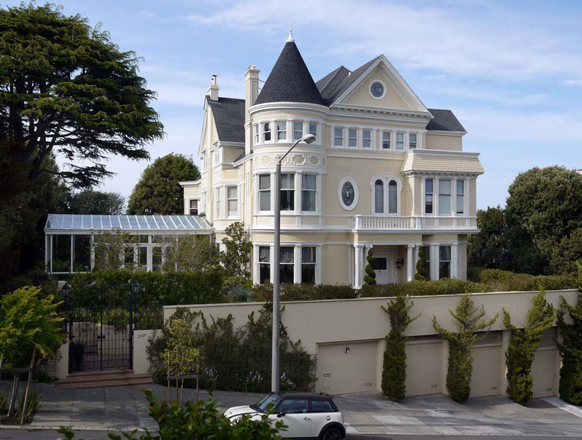 Historic pacific heights mansion on sale for 30 million for San francisco victorian houses history