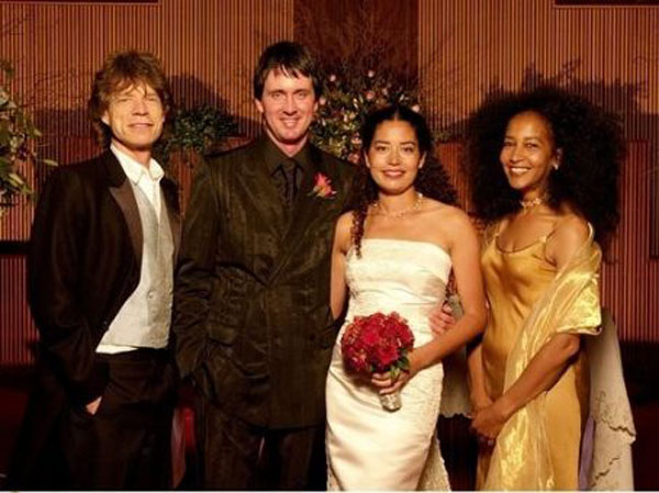 Marsha-pictured-on-her-daughter-Karis's-wedding-day-with-father-of-the-bride-Mick-Jagger