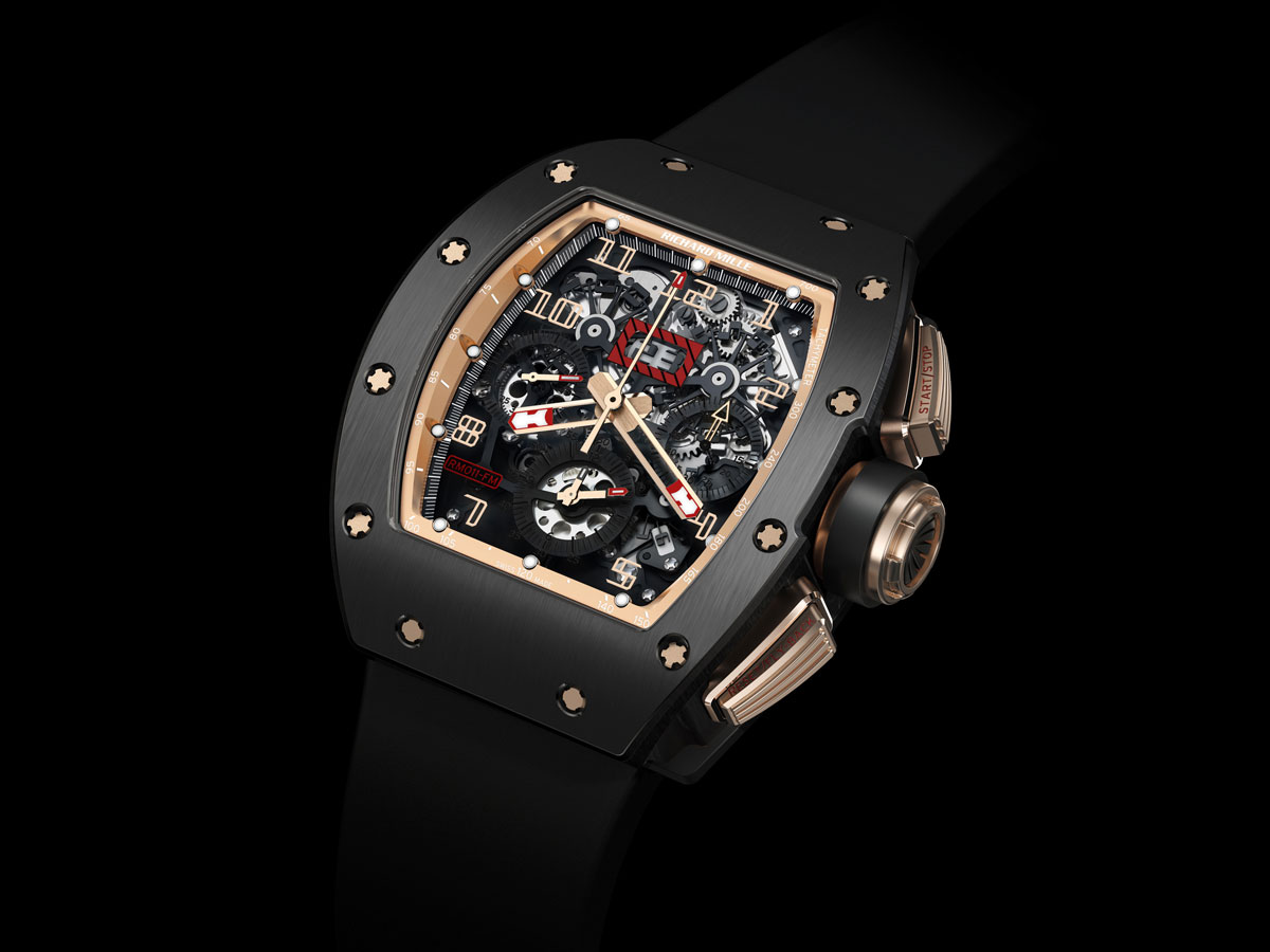 Richar Mille&#8217;s New RM 011 Felipe Massa Flyback Chronograph Black Kite