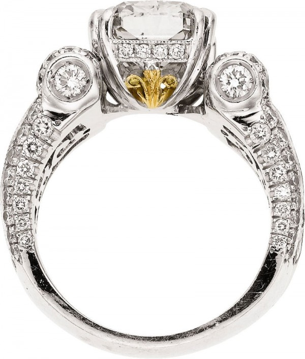 10.32 carat total weight diamond platinum JB star ring