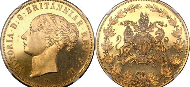 1887 Victoria gold pattern Crown