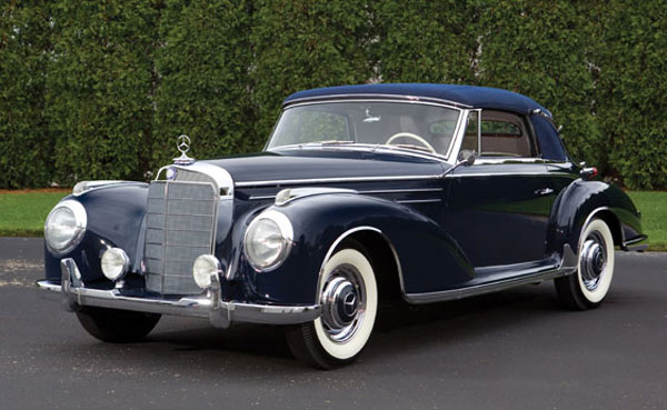 rare 1956 mercedes benz 300sc cabriolet goes under the