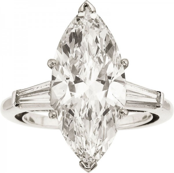 4.47 carat weight diamond white gold ring
