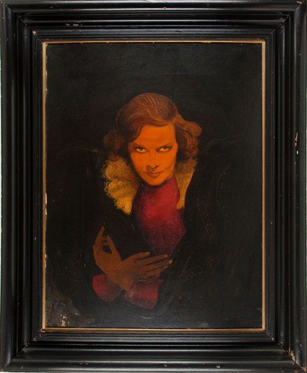 Portrait painted in 1936 by John Decker of a young Katherine Hepburn