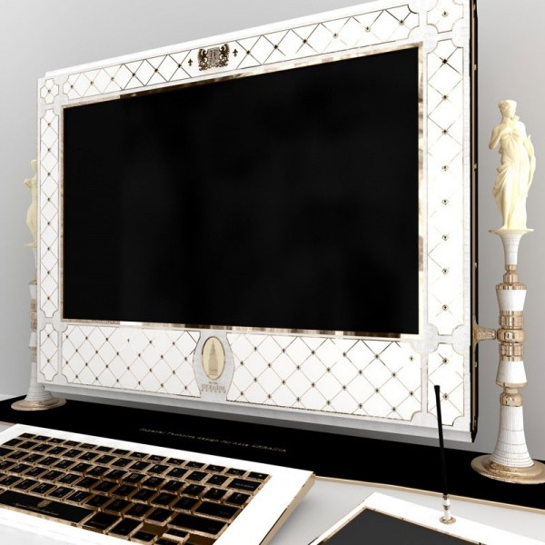 Apple iMac Ornamented with Precious Stones and Gold