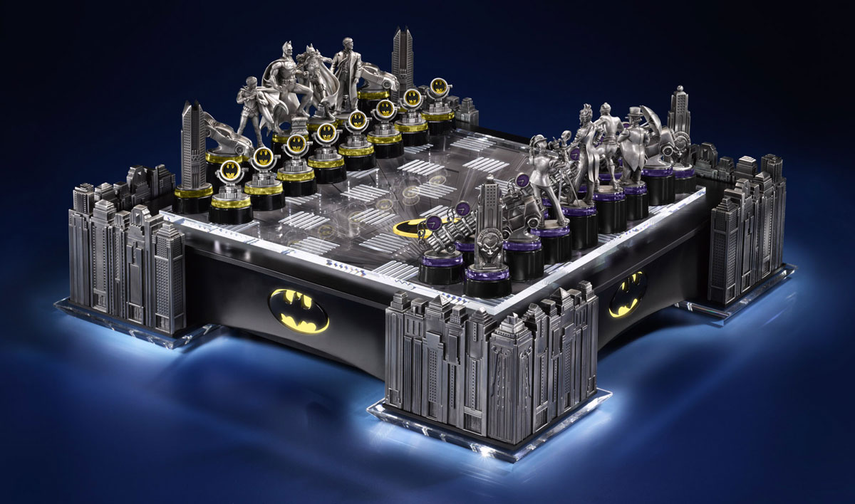 Ultimate batman chess set with led lighting will cost you 795 extravaganzi - Coolest chess boards ...