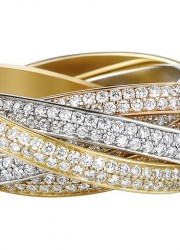 Cartier Two for Trinity ring