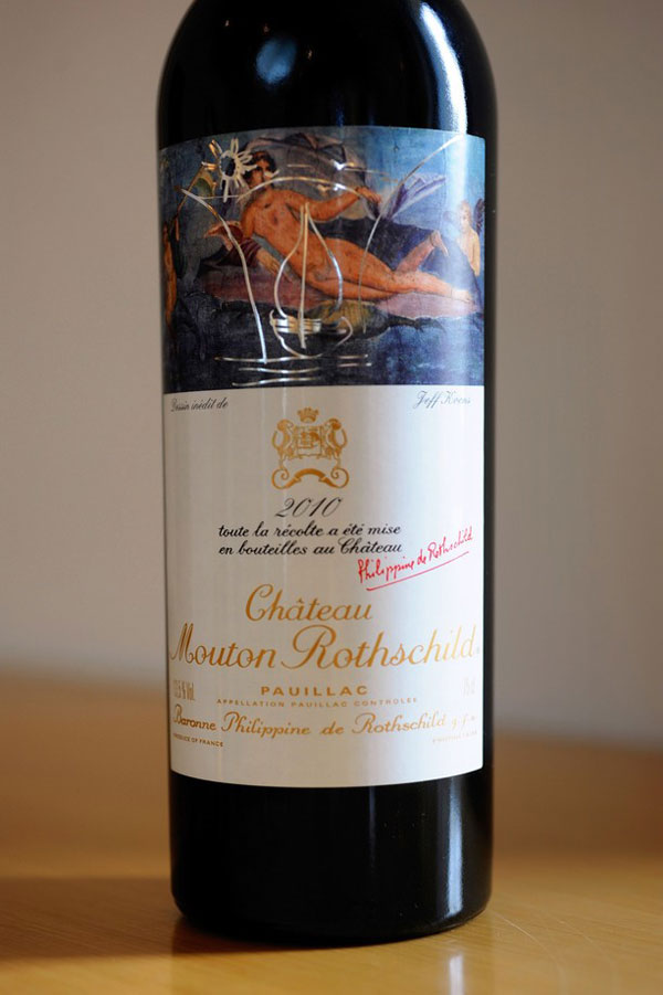 Chateau Mouton Rothschild 2010 Vintage Designed by Jeff Koons