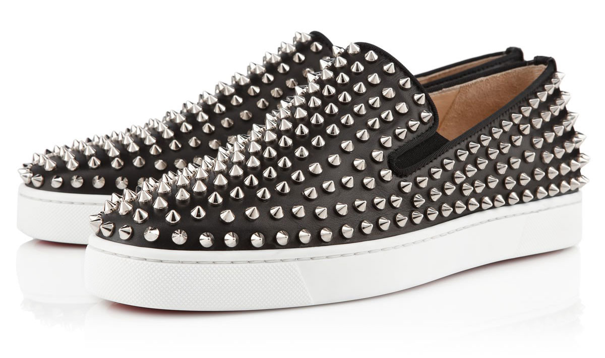 Available in black leather and white, there's much to love about the Christian Louboutin Roller-Boat Flat Sneakers for Spring/Summer 2013