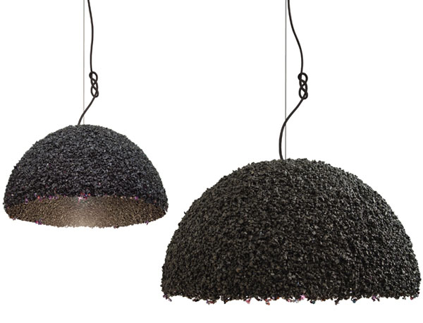 Duchess - Large Stone and Swarovski Crystal Pendant Light by Ieva Kaleja