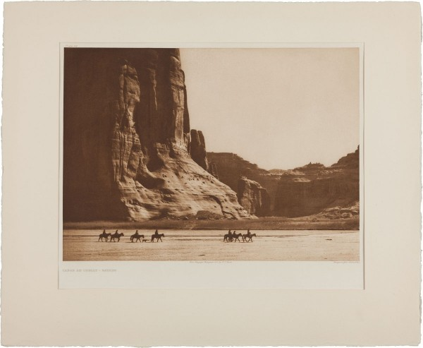 Canon de Chelly — Navajo, an example of Curtis's most iconic image located in Northeastern Arizona which is expected to bring $18,000+