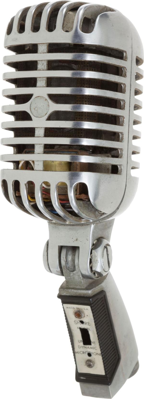 Elvis Presley Used KWKH Shure Microphone