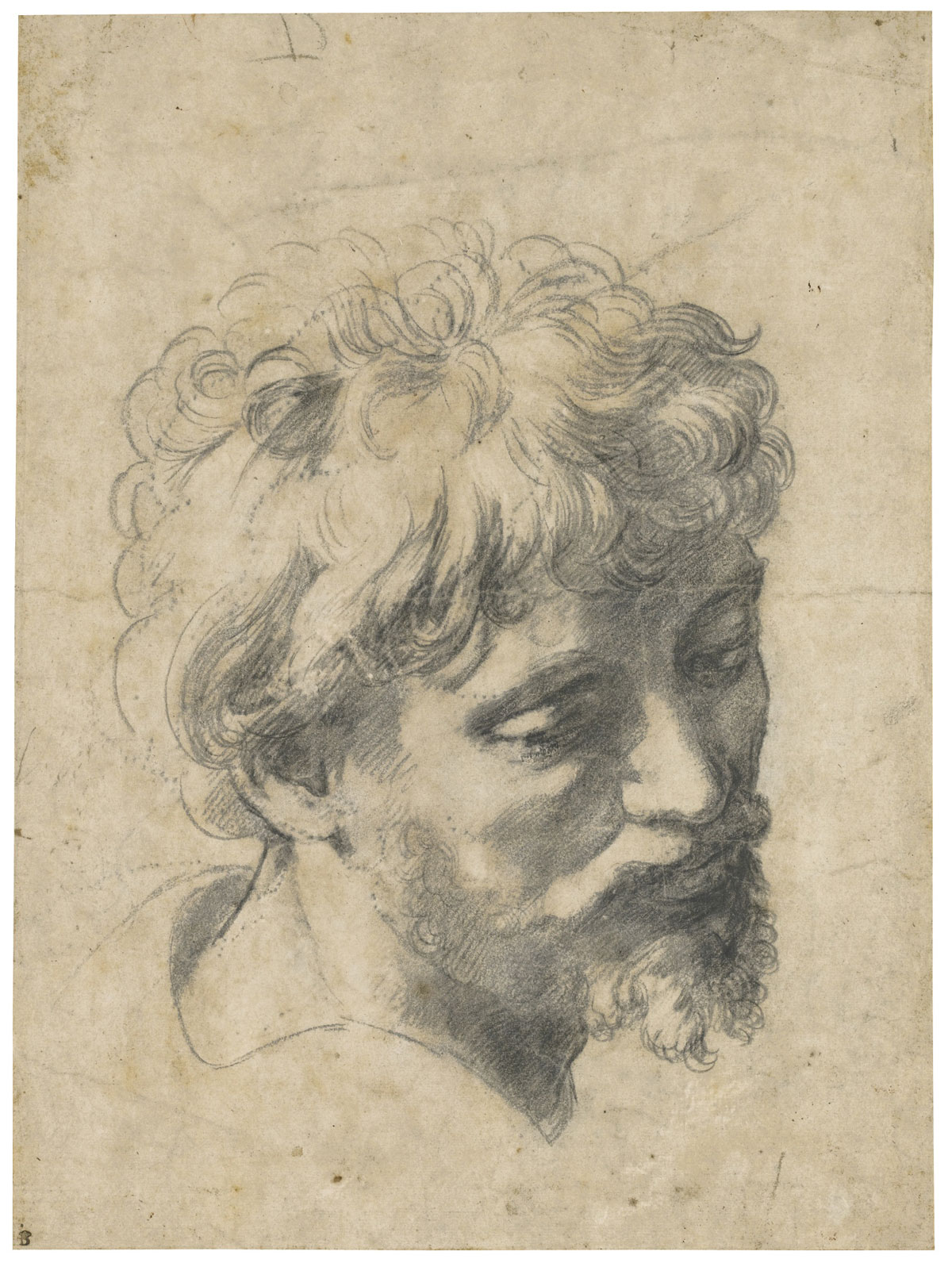 Head of a Young Apostle (c. 1519-20) which achieved a record price for the artist at auction when it sold for £29.7 million, the second highest auction price for any Old Master work of art.