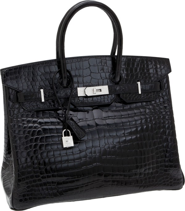 Hermes 30cm Matte Havana Nilo Crocodile Birkin Bag with Palladium Hardware