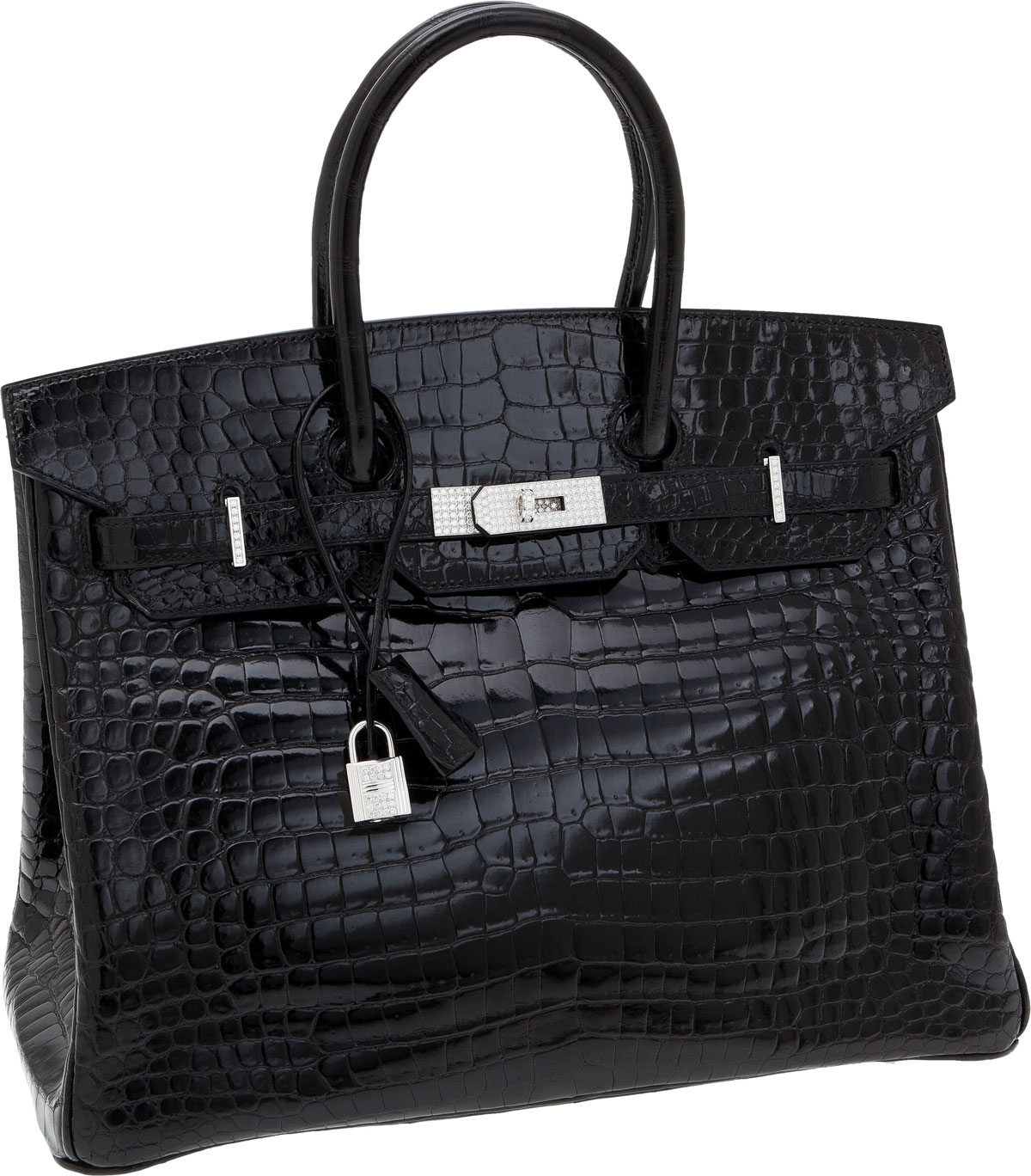 birkin bag.com - Hermes Black Crocodile Birkin Bag Diamonds