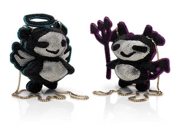 Jimmy Choo's ANGEL and DEVIL Panda Minaudière Clutch