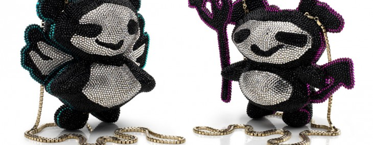Jimmy Choo's ANGEL and DEVIL Panda Minaudière Clutch