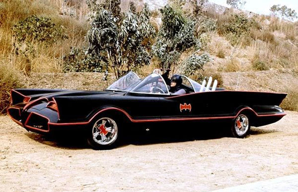 Original Batmobile from the 1966 Adam West TV Series