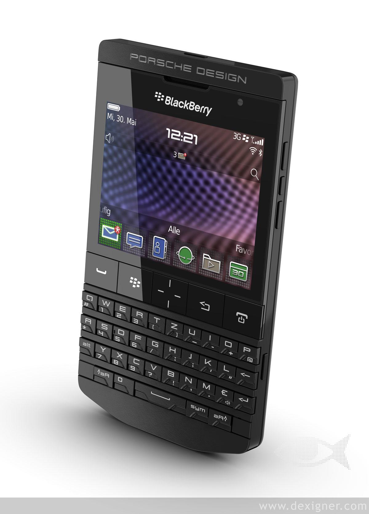 porsche design s p 9981 blackberry matte black extravaganzi. Black Bedroom Furniture Sets. Home Design Ideas