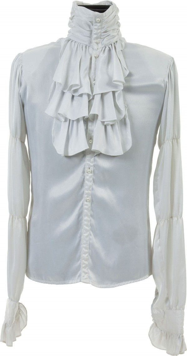White, ruffled shirt worn by Prince throughout the 1984 movie Purple Rain