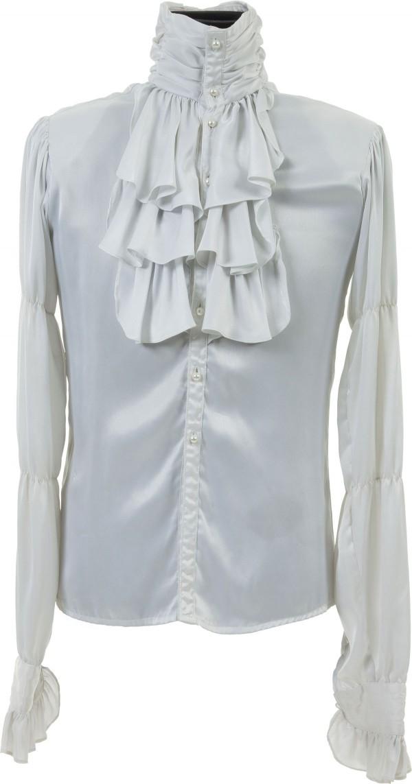 White, ruffled shirt worn by Prince throughout the 1984 movie Purple Rain