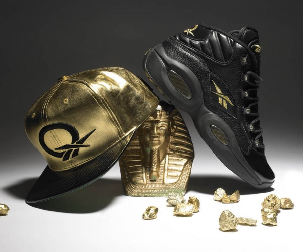Reebok Question - Black / Gold for New Year's Eve