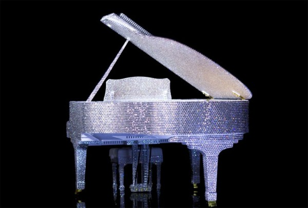Steinway-scale-model-grand-piano-completely-covered-in-crystals