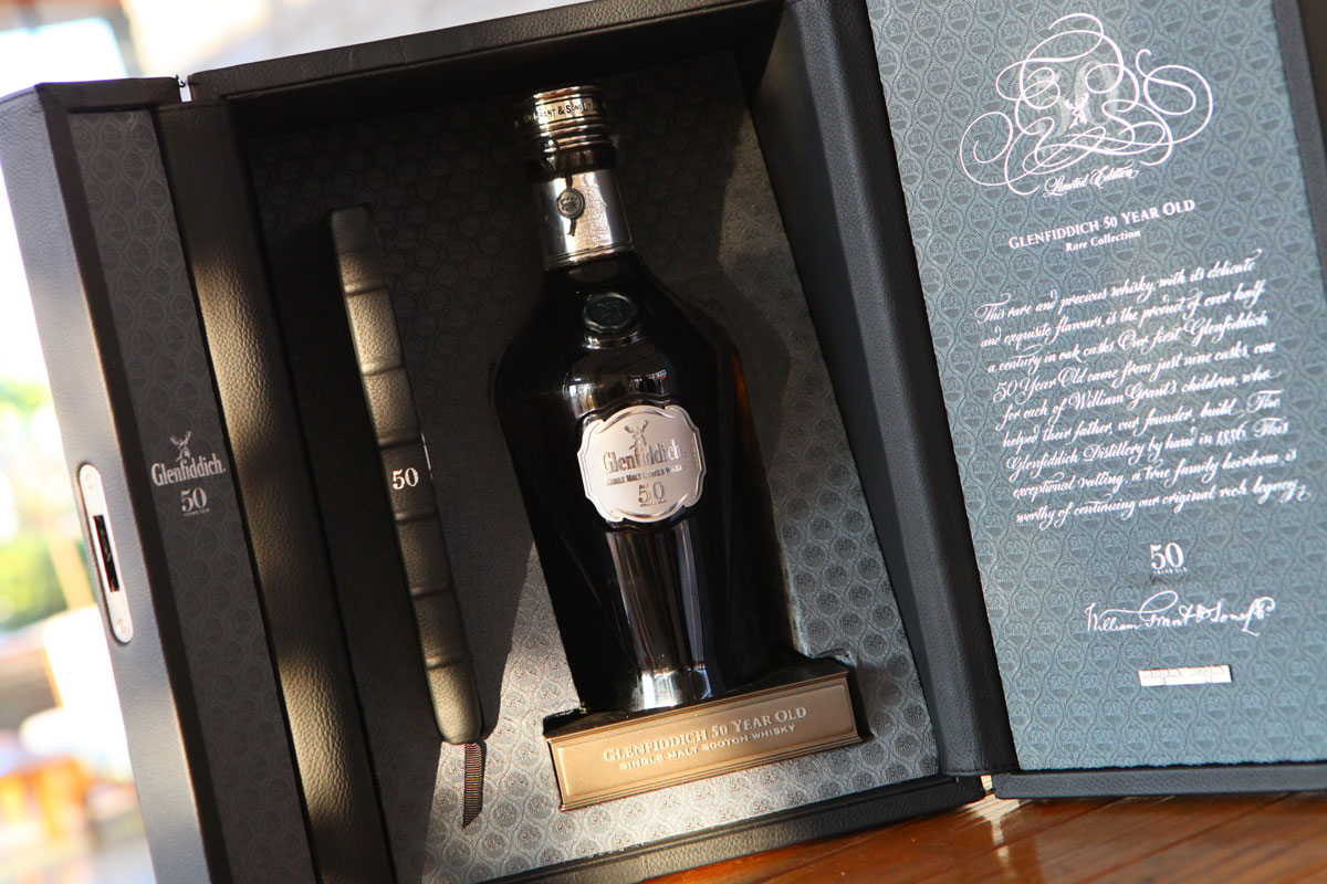 Glenfiddich 50-year-old Single Malt Scotch Whisky Sold for $27,000