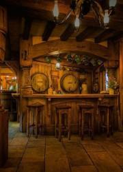 Hobbit Themed Green Dragon Pub Opened in Hobbiton, near Matamata, New Zealand