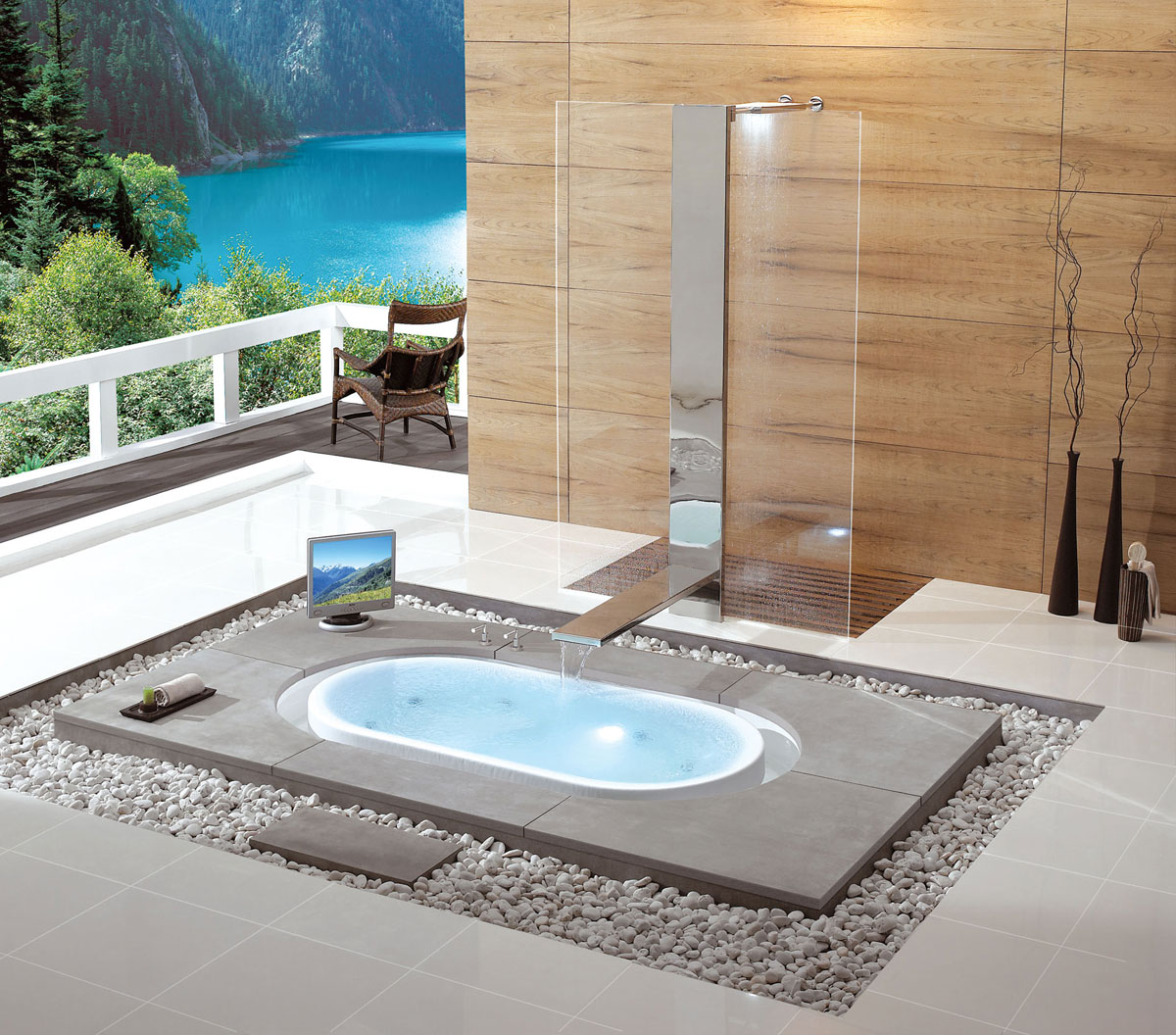 The overflow bathtub collection by kasch relaxing oasis - Jacuzzi para interior ...
