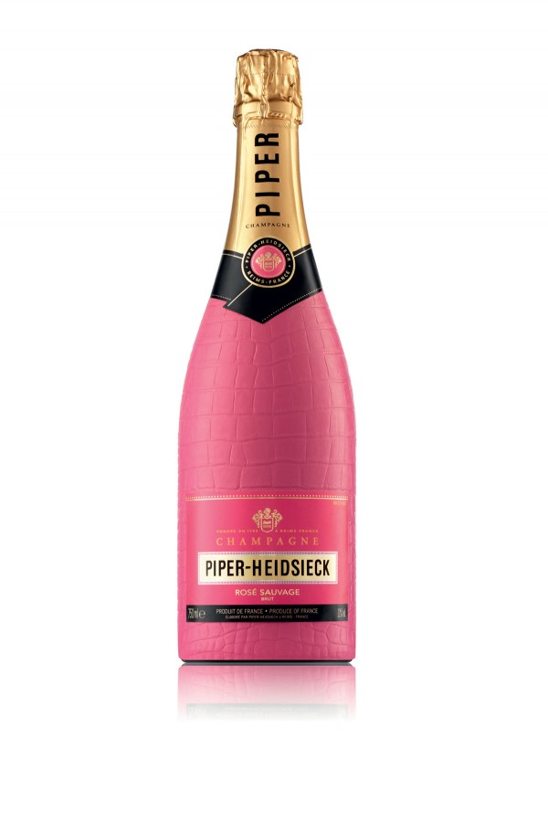 Piper-Heidsieck Bodyguard Rose Sauvage Champagne in Hot Pink Croc Bottle