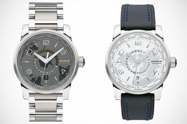 The Montblanc TimeWalker World Time Hemispheres