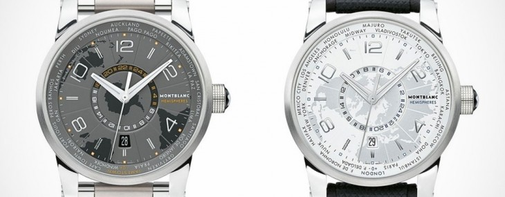 The Montblanc TimeWalker World Time Hemispheres