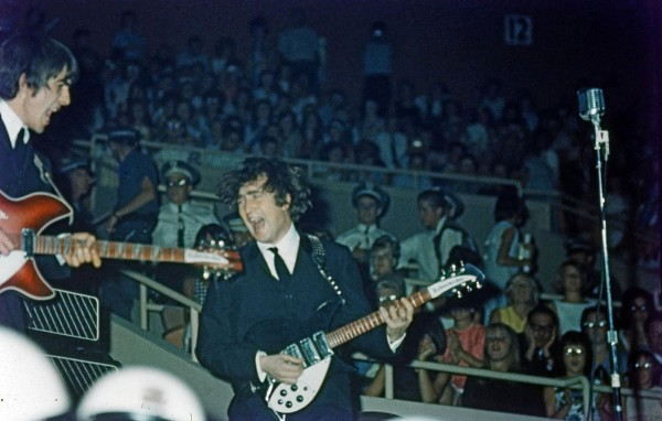 Unpublished colour photographs of The Beatles during their first tour of the US