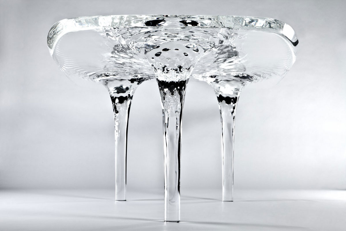 Zaha Hadid Liquid Glacial Coffee Table for Whopping $160.000 - eXtravaganzi