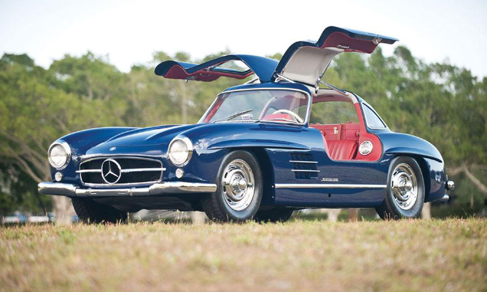 Auctions america fort lauderale offers 1955 mercedes benz for Mercedes benz gullwing 1955