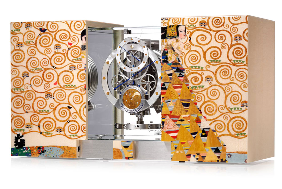 Jaeger-LeCoulter Atmos Marqueterie pays tribute to Gustav Klimt