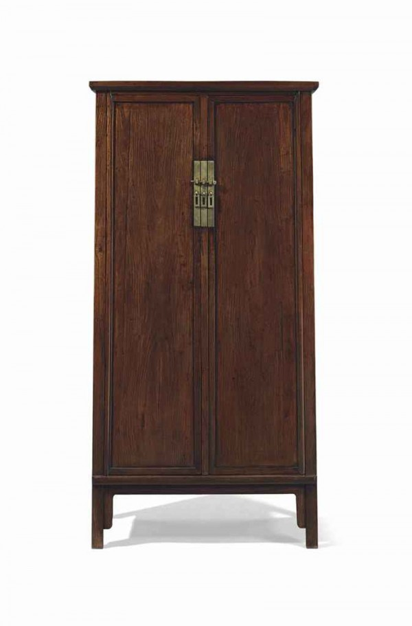 A Magnificent and Very Rare Huanghuali Square Corner Tapered Cabinet (estimate: $600,000-800,000)