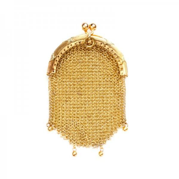 Antique Victorian Gold Change Purse from the Suzanne Mounts Collection
