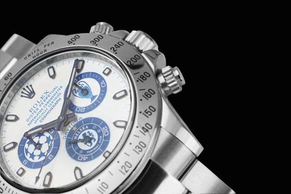 Titan Black's Chelsea FC Rolex Daytona is made for the memory of this magnificent event for the London club