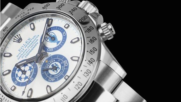 New Titan Black's Chelsea FC Rolex Daytona Watch