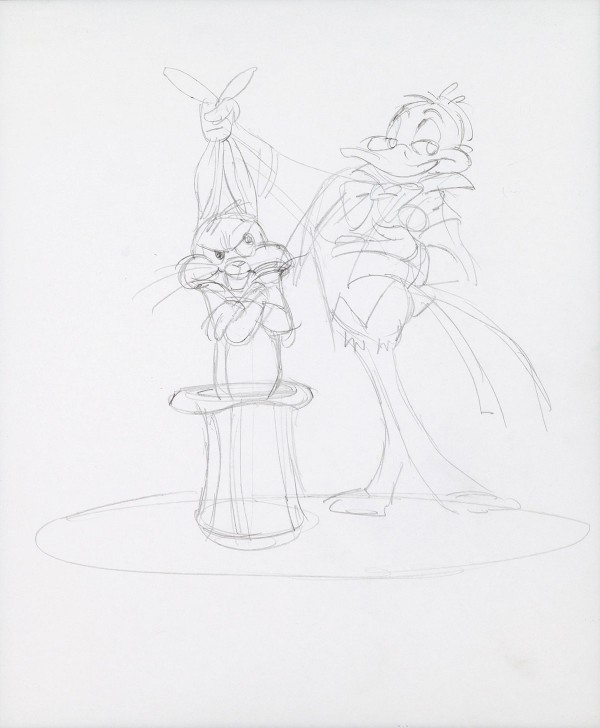 Chuck Jones Bugs Bunny and Daffy Duck Illustration Original Art