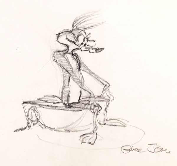 Chuck Jones Early Wile E. Coyote Concept Sketch